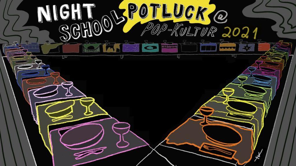 Night School Berlin Potluck (Artwork: Yoko Kikuchi)